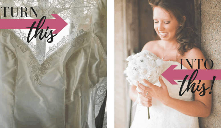How To Turn A Wedding Dress Into A Bridal Bouquet!