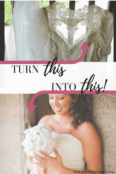 Wedding Dress Into A Bridal Bouquet