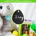 Chalkboard Easter Basket Tag