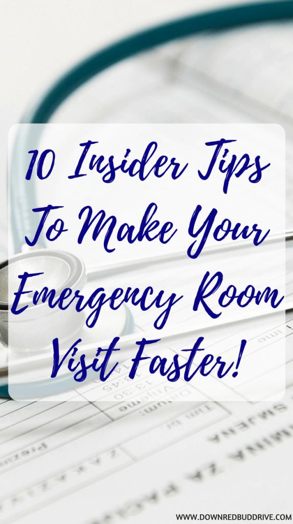make your emergency room visit faster