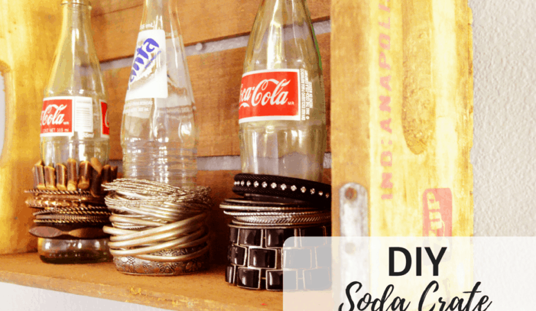 DIY Soda Crate Bracelet Holder