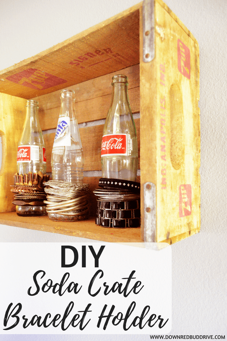 DIY Soda Crate Bracelet Holder