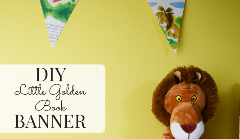 DIY Little Golden Book Banner