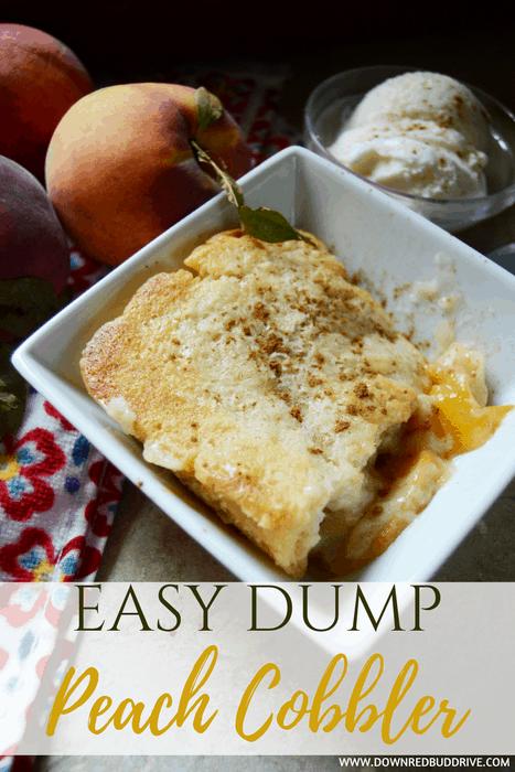 Easy Dump Peach Cobbler
