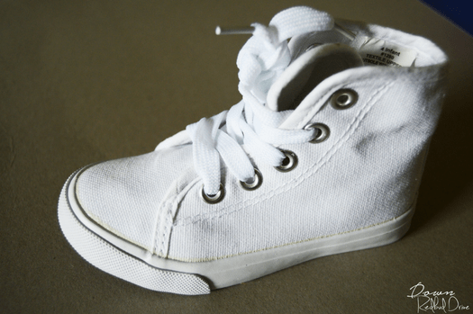 DIY Boutique High-Top Shoes