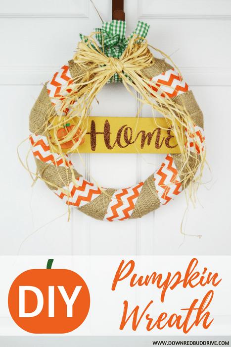 DIY Pumpkin Wreath