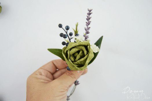 DIY Wood Flower Boutonierre