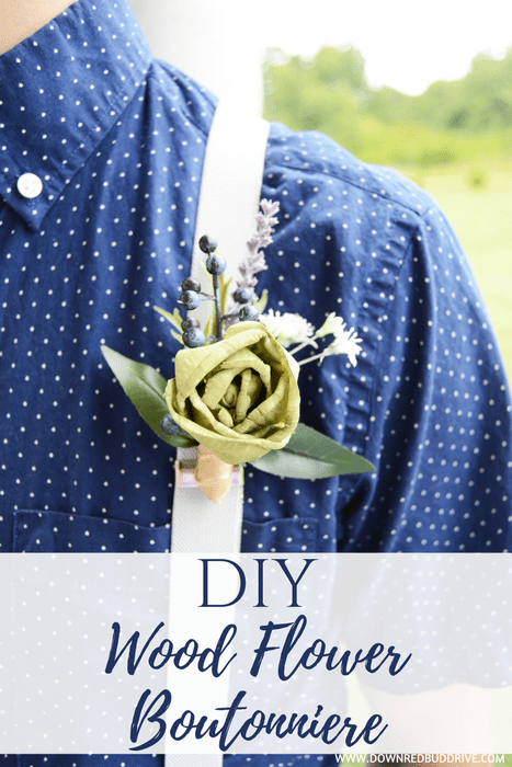 DIY Wood Flower Boutonniere