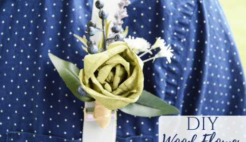 DIY Wood Flower Boutonniere