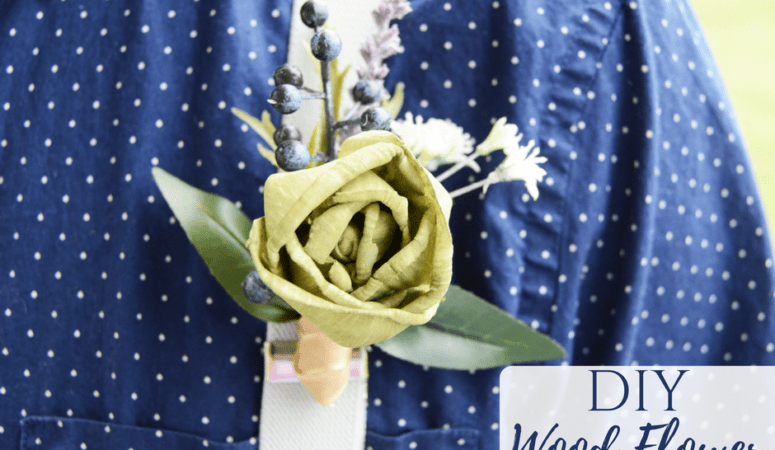 DIY Sola Wood Flower Boutonniere
