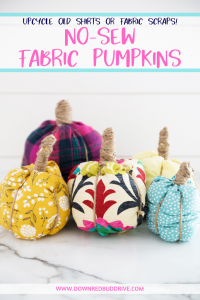 diy no-sew fabric pumpkins