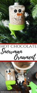 Hot Chocolate Snowman Ornament