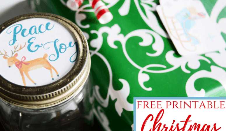 Printable Christmas Tags | For Mason Jars and Gifts!