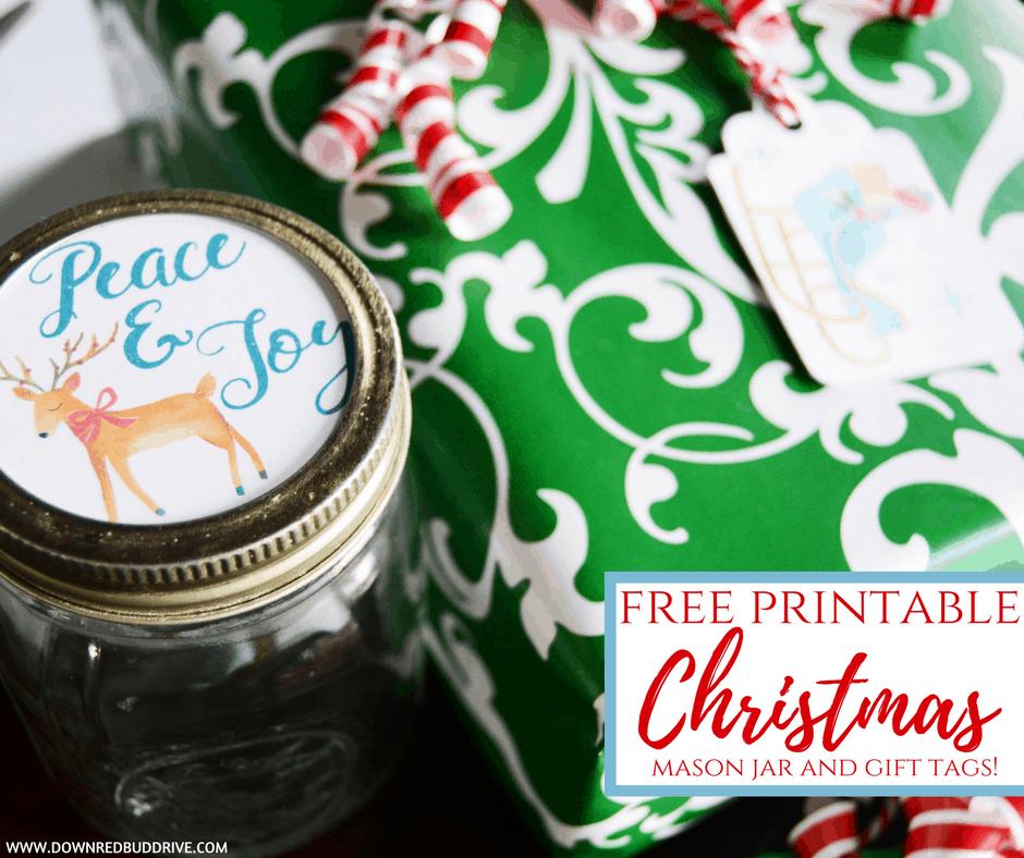 Printable Christmas Tags For Mason Jars And Gifts