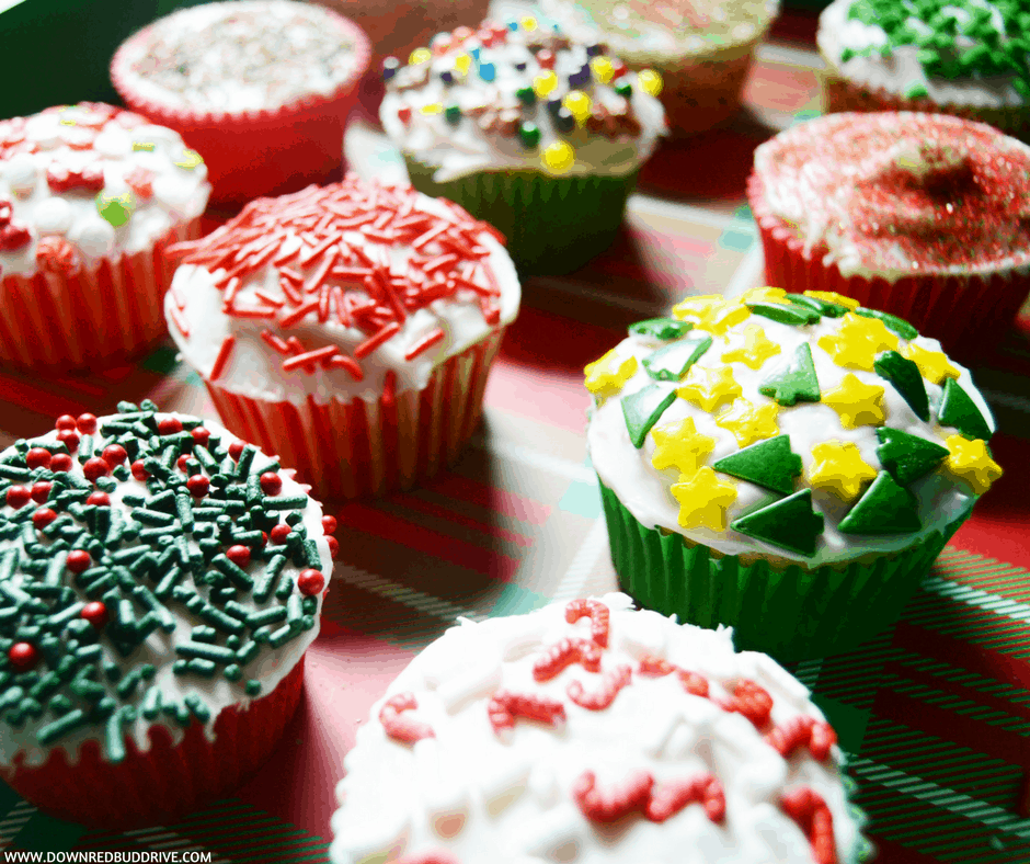 leftover sprinkles christmas cupcakes easy christmas cupcakes - Christmas Sprinkles