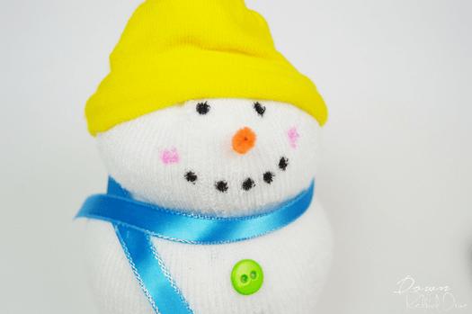 No-Sew Snowman