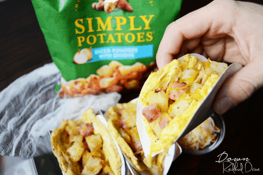 Ham and Potato Egg Taco