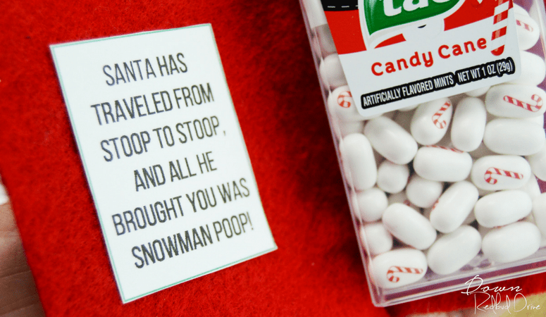 Snowman Poop | DIY Stocking Stuffer