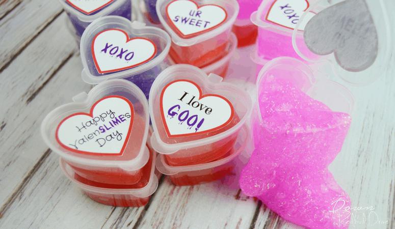 Slime Valentines | Free Printable Stickers!