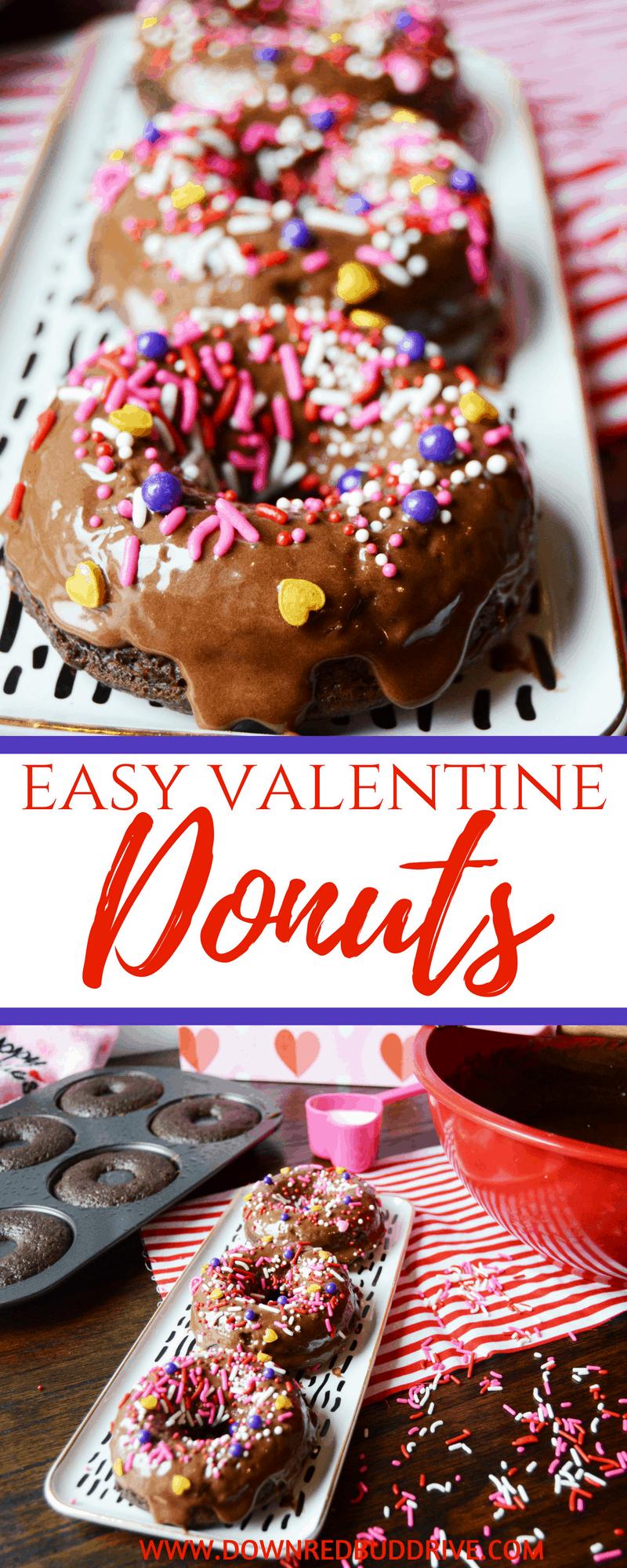 Valentine Donuts | Valentine Breakfast | Valentine Treat | Valentine Dessert | Valentine's Day Kids | Valentine's Day Donuts | Chocolate Donut recipe | Chocolate Cake Donut Recipe | Easy Donut Recipe | #donutrecipe #valentinesday #valentinesdayrecipe