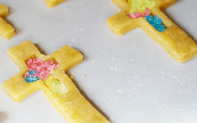 Stained Glass Cross Cookies