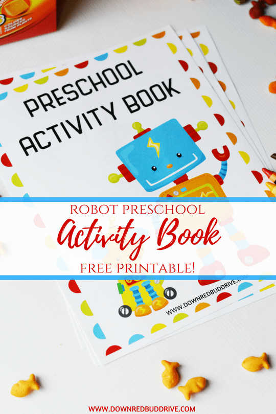 image relating to Printable Activity Books identified as Printable Robotic Preschool Sport E-book - Down Redbud Enthusiasm