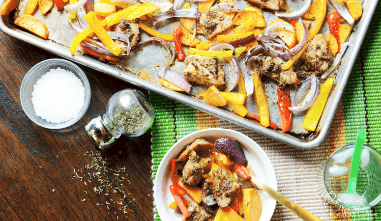 Sheet Pan Pork and Peppers | One Pan Meal
