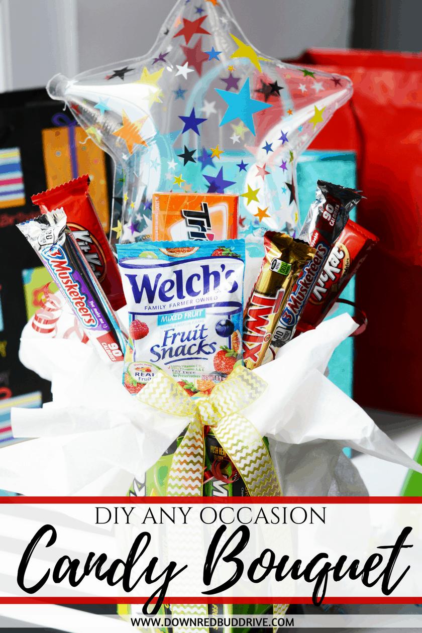 DIY Candy Bouquet | Candy Bouquet DIY | Candy Bouquet Tutorial | DIY Gift Idea | Gift Idea | Birthday Gift Idea | DIY Birthday Gift | Down Redbud Drive #diygift #candybouquet #giftidea