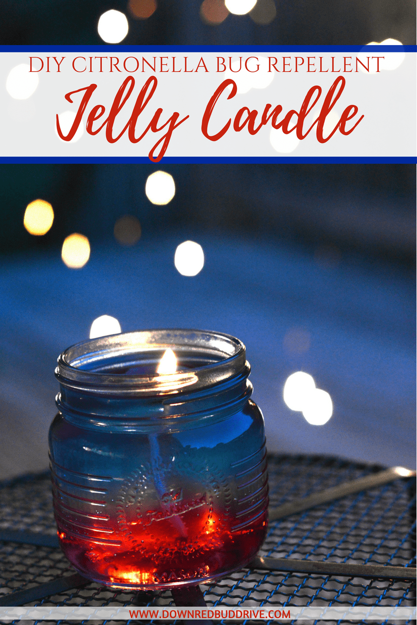 Citronella Jelly Candle   DIY Jelly Candle   Gel Candle   Gel Candle DIY   Jelly Candles How to Make   Jelly Candles Ideas   Jelly Candles DIY Mason Jars   Jelly Candles DIY   Jelly Candles   Fourth of July Craft   Patriotic Candles   Patriotic Decor DIY   Patriotic DIY   Fourth of July DIY   Citronella Candle DIY   Natural Bug Repellent   Down Redbud Drive #fourthofjuly #jellycandle #citronella #bugrepellent