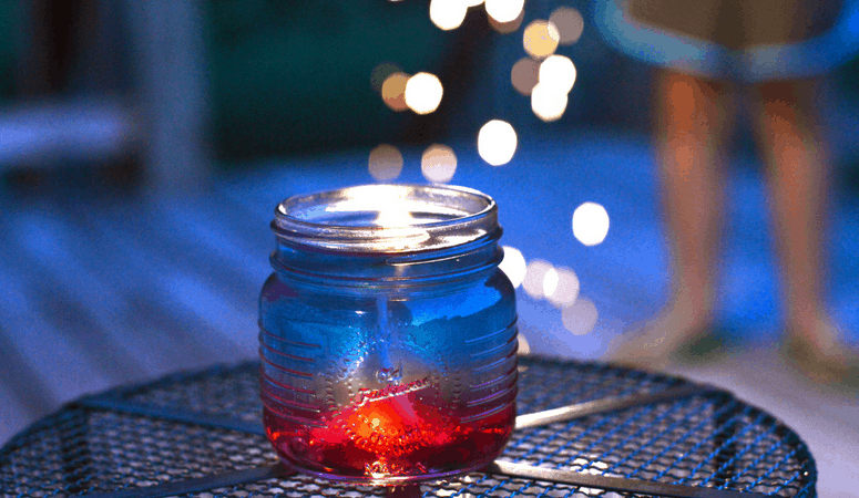 Citronella Jelly Candle | Easy Patriotic DIY Bug Repellent