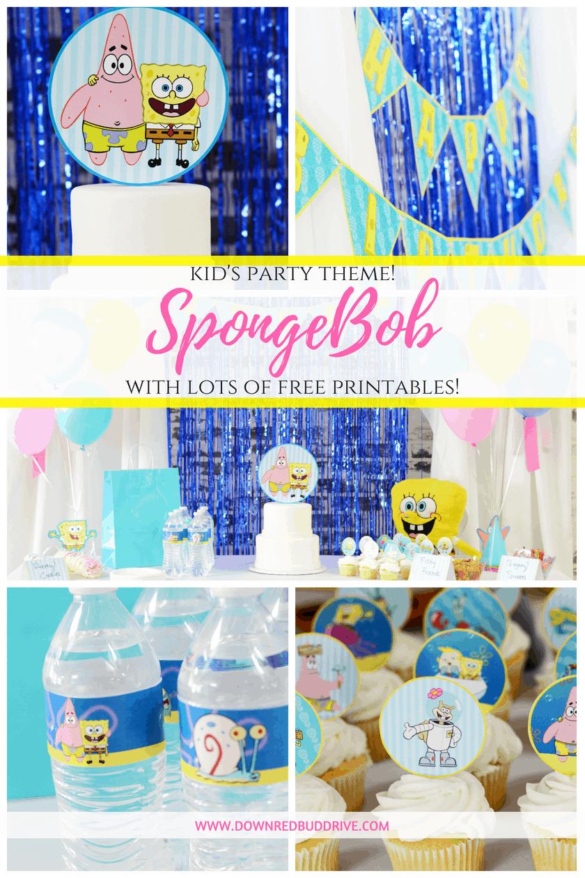 SpongeBob Party Theme   SpongeBob Party Food   SpongeBob Party Ideas   SpongeBob Birthday   SpongeBob Birthday Ideas   SpongeBob Party Decorations   SpongeBob Birthday Decorations   SpongeBob Birthday Printables   Down Rebud Drive #spongebobbirthday #spongebobparty #birthdayparty
