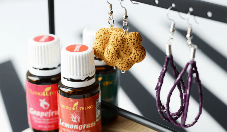 Diffuser Earrings | Easy DIY Essential Oil Diffuser Earrings
