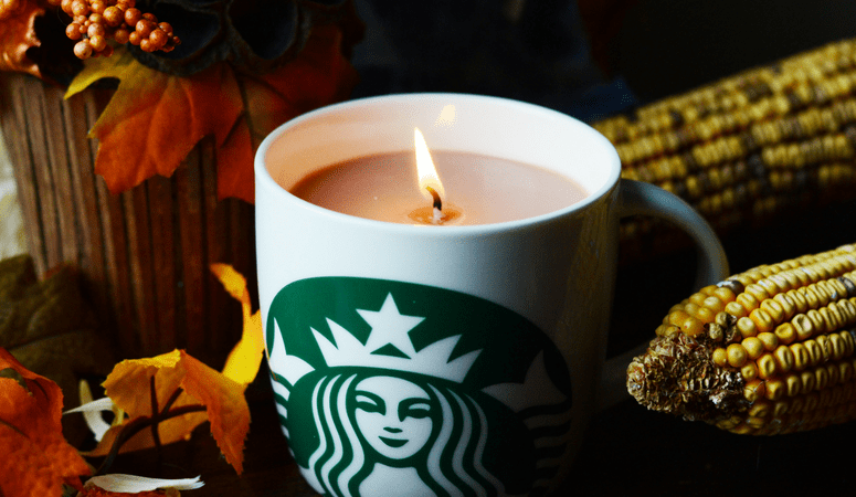 Starbucks Candle | Easy DIY Gift Idea