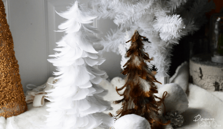 Feather Trees | Easy DIY Christmas Decor