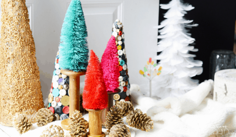 Bottle Brush Trees DIY | Whimsical Christmas Decor