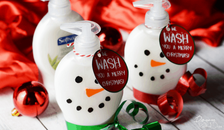 Snowman Soap | Easy DIY Christmas Gift with Free Printables!