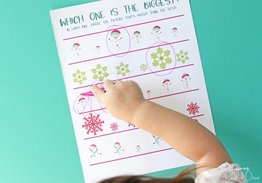 Preschool Winter Activity Book