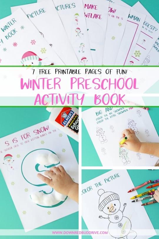 Preschool Winter Activity Book