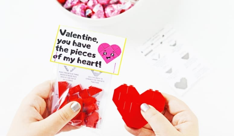 Lego Valentines | How To Build A Lego Heart With Free Printables