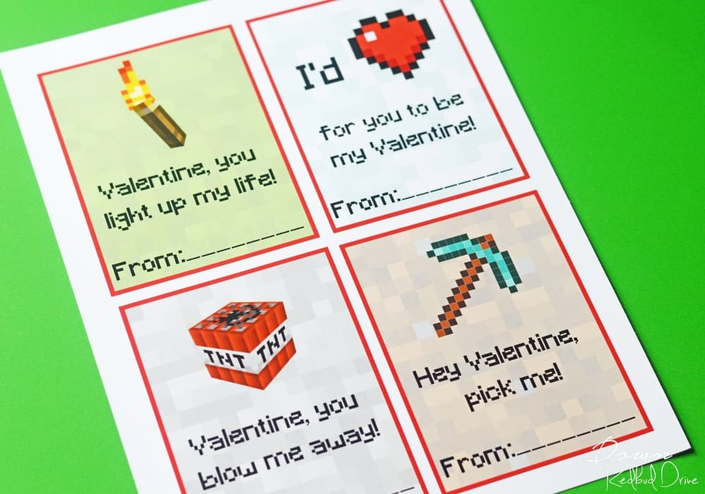 photograph relating to Minecraft Printable Valentines called Printable Minecraft Valentines No cost Printable Valentines