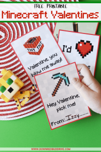 picture regarding Minecraft Valentine Box Printable identify Printable Minecraft Valentines Totally free Printable Valentines