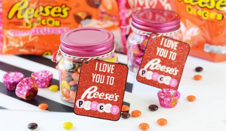 Reese's Pieces Valentines | Free Printable Tags