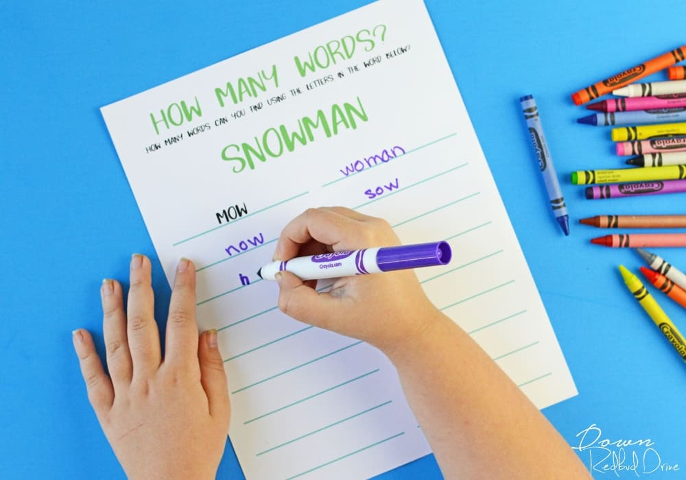 Printable Kid's Winter Activity Book
