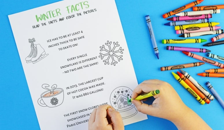 Printable Kid's Winter Activity Book | Free Grade School Age Book