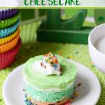 St. Patrick's Day No Bake Cheesecake