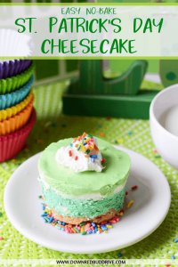 St. Patrick's Day No Bake Cheesecake
