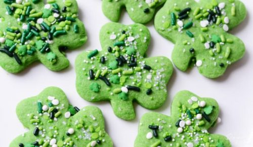 Shamrock Sprinkle Cookies