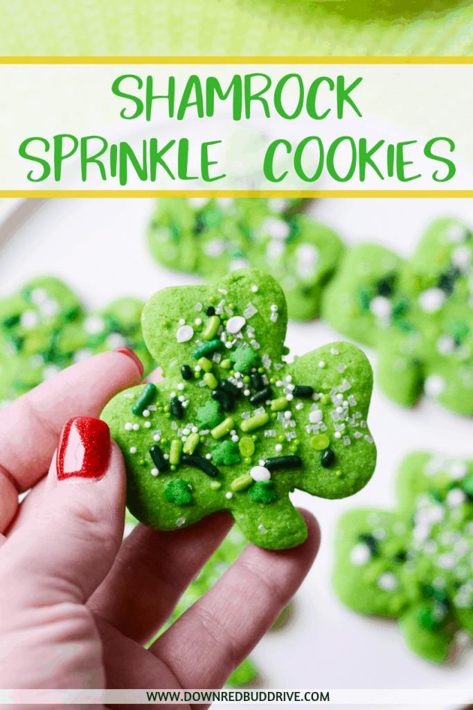 Shamrock Sprinkle Cookies
