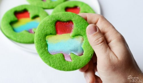 Stained Glass Shamrock Cookies