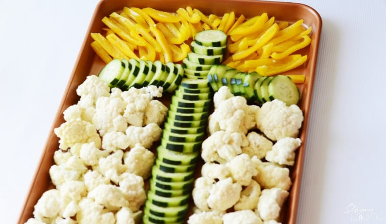 Cross Vegetable Tray | Easter Vegetable Side Dish